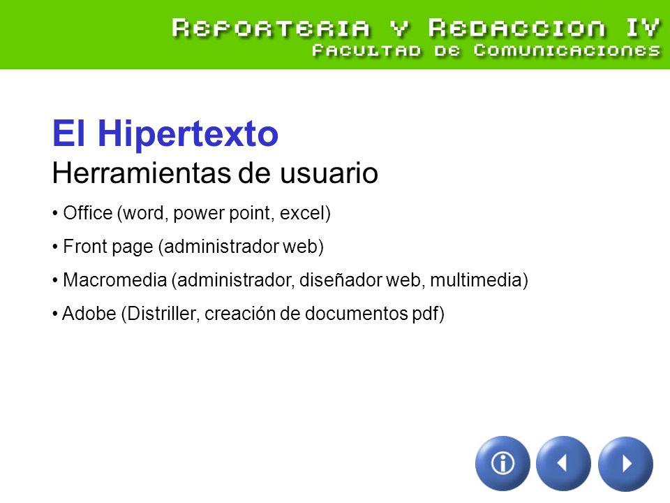 El Hipertexto Herramientas de usuario
