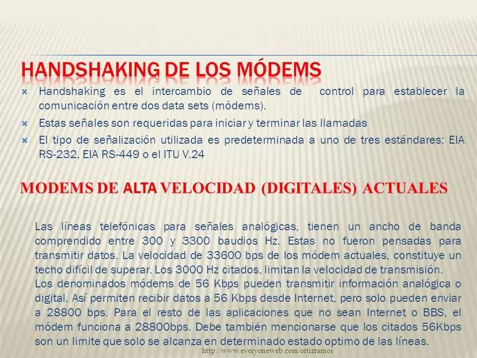 Handshaking de los módems
