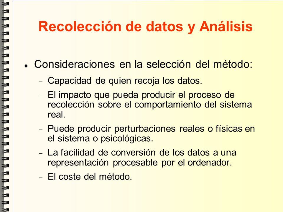 Recolección de datos y Análisis