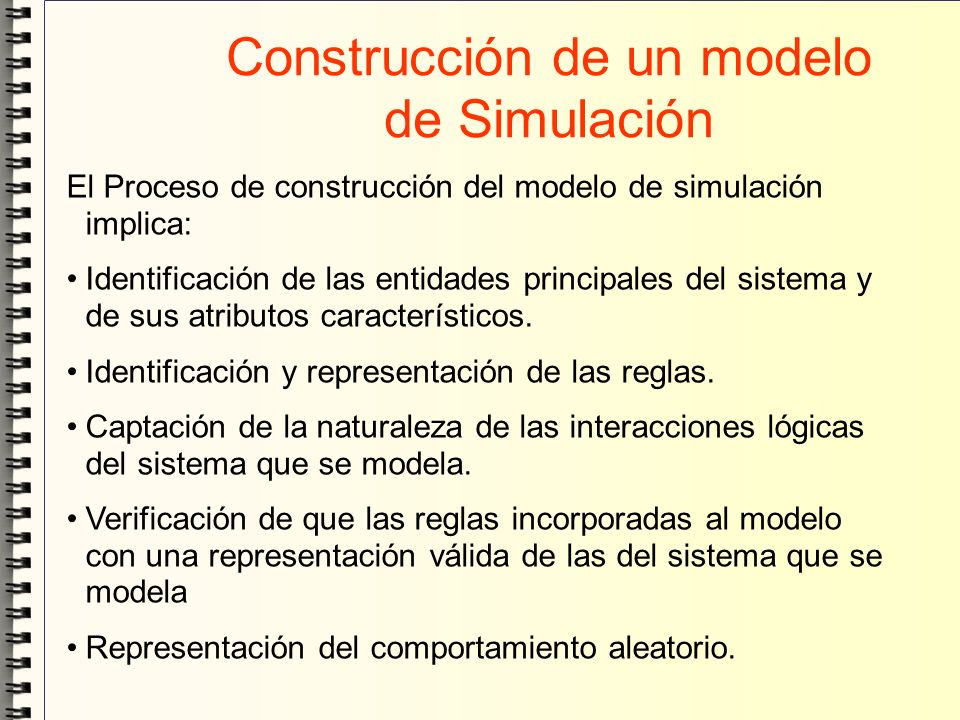 Construcción de un modelo de Simulación