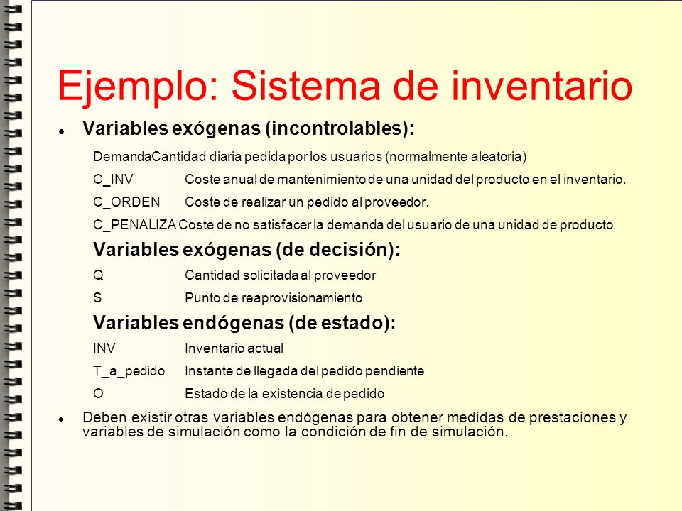 Ejemplo: Sistema de inventario