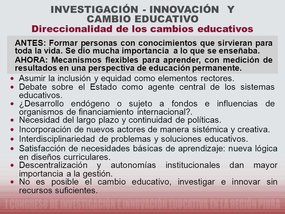INVESTIGACIÓN - INNOVACIÓN Y