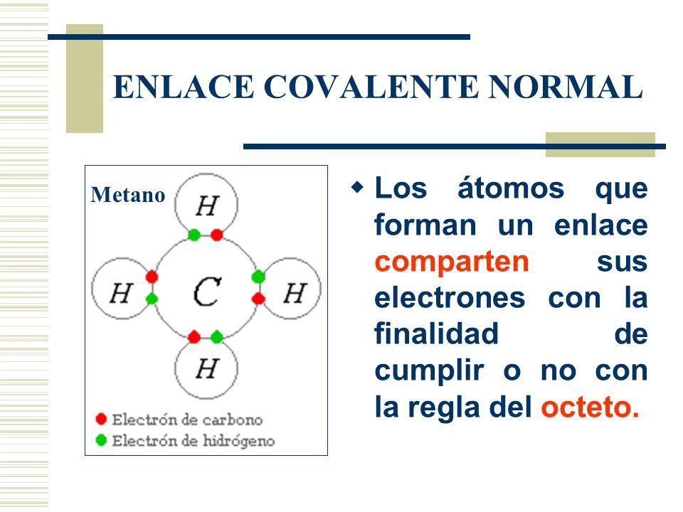 ENLACE COVALENTE NORMAL