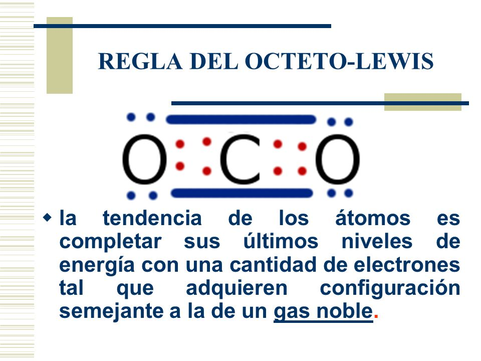 REGLA DEL OCTETO-LEWIS