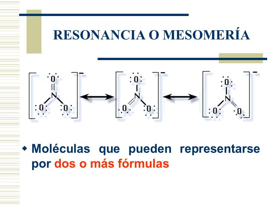 RESONANCIA O MESOMERÍA