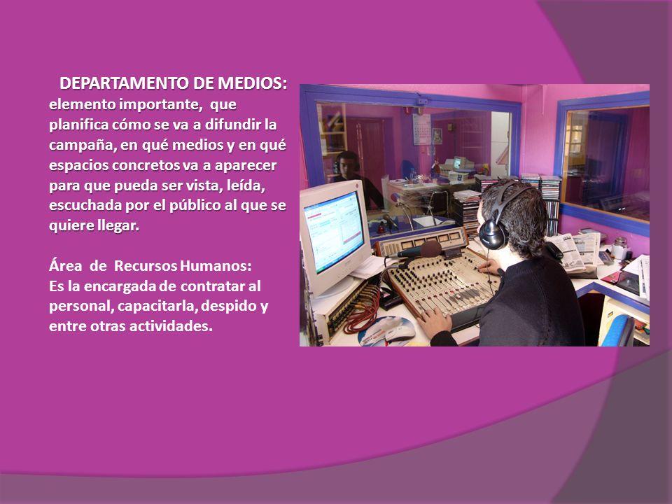 DEPARTAMENTO DE MEDIOS: