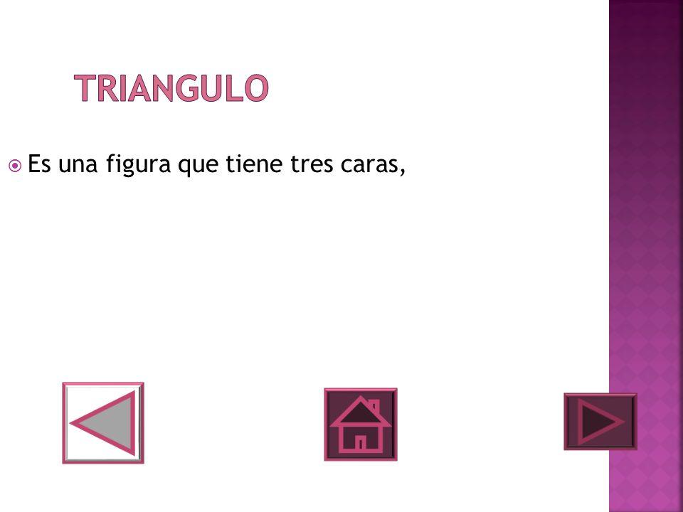 Triangulo Es una figura que tiene tres caras,