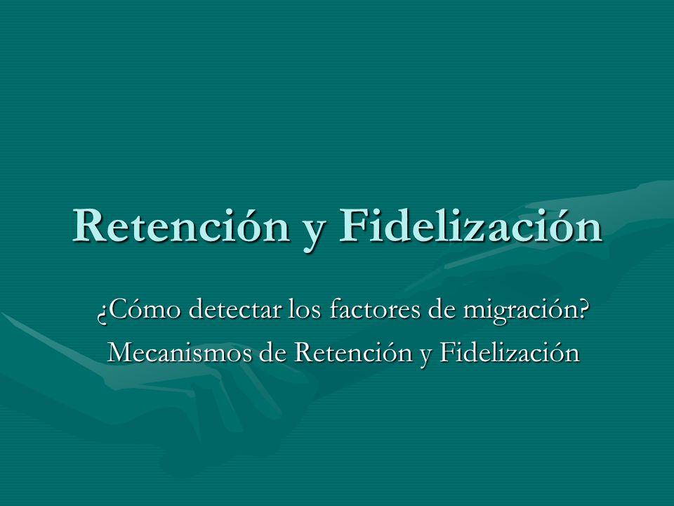 Retención y Fidelización