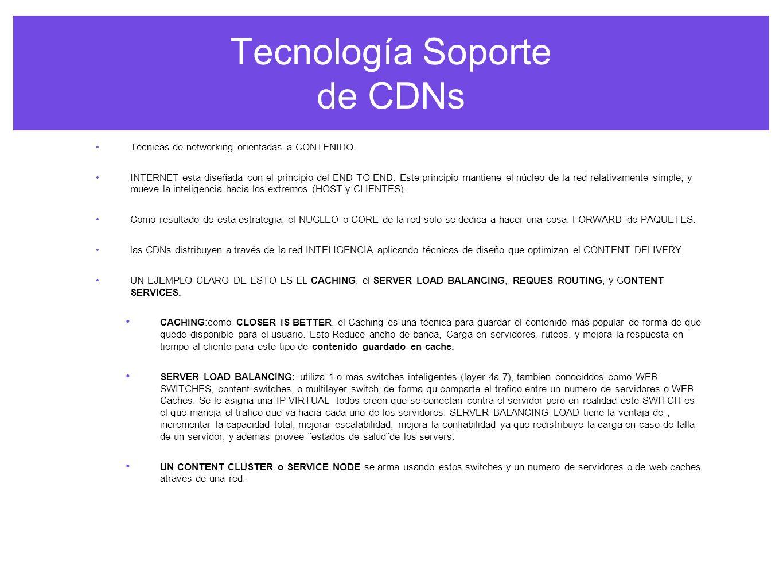 Tecnología Soporte de CDNs