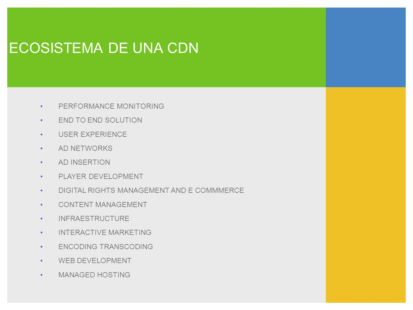 ECOSISTEMA DE UNA CDN PERFORMANCE MONITORING END TO END SOLUTION