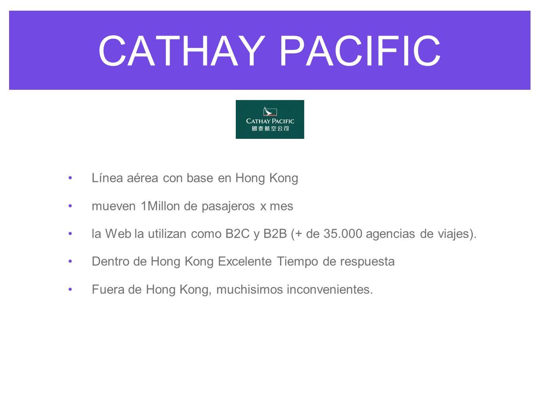 CATHAY PACIFIC Línea aérea con base en Hong Kong