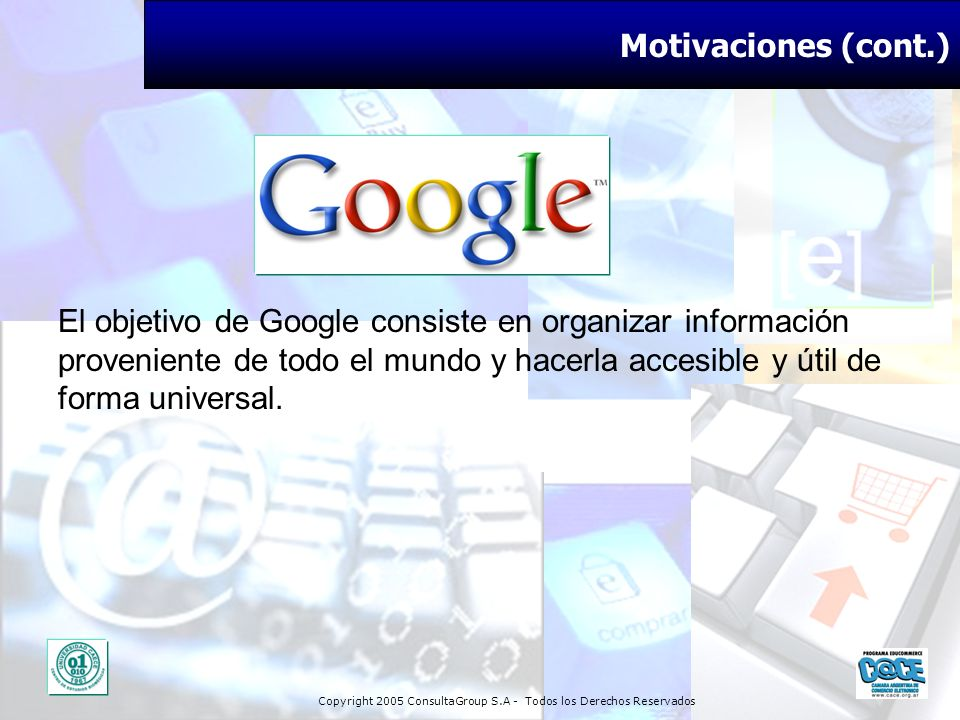 Motivaciones (cont.)