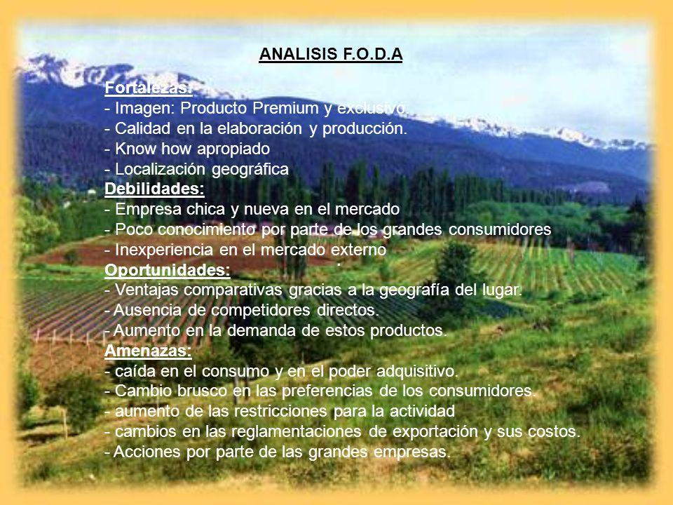. ANALISIS F.O.D.A Fortalezas: - Imagen: Producto Premium y exclusivo.