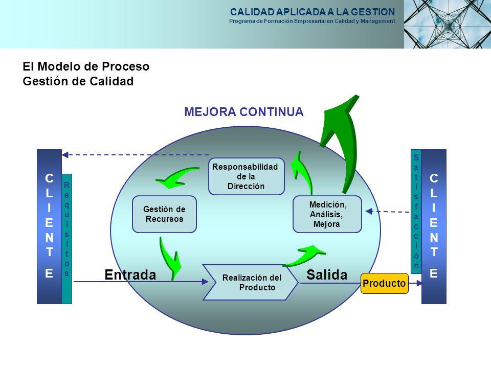 Entrada Salida El Modelo de Proceso Gestión de Calidad MEJORA CONTINUA