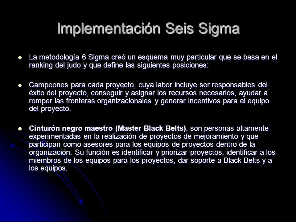 Implementación Seis Sigma