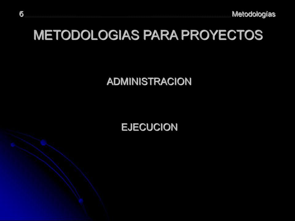 METODOLOGIAS PARA PROYECTOS