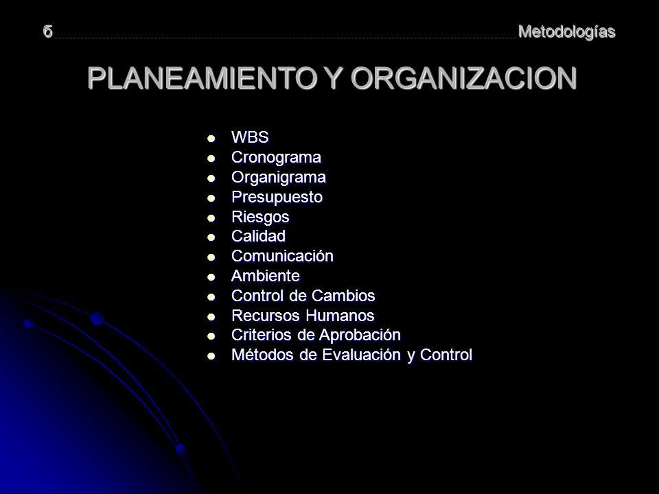 PLANEAMIENTO Y ORGANIZACION