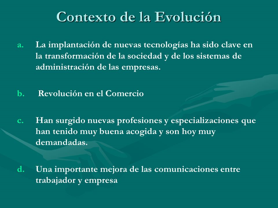 Contexto de la Evolución