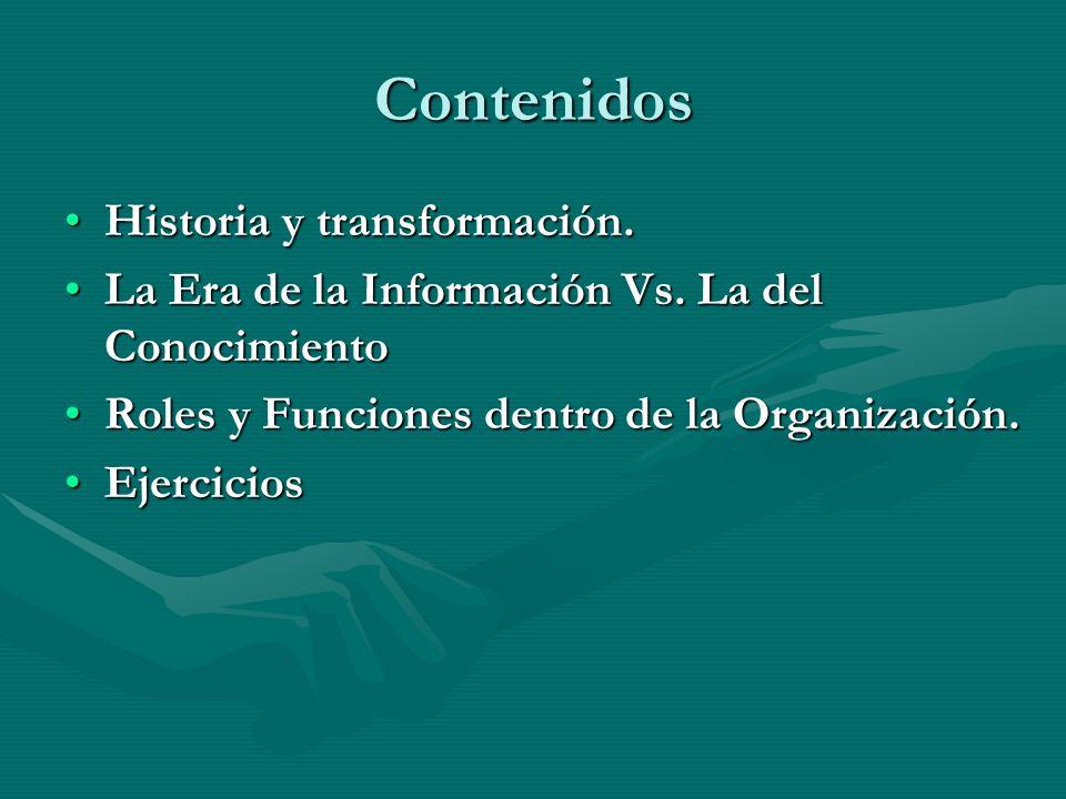 Contenidos Historia y transformación.