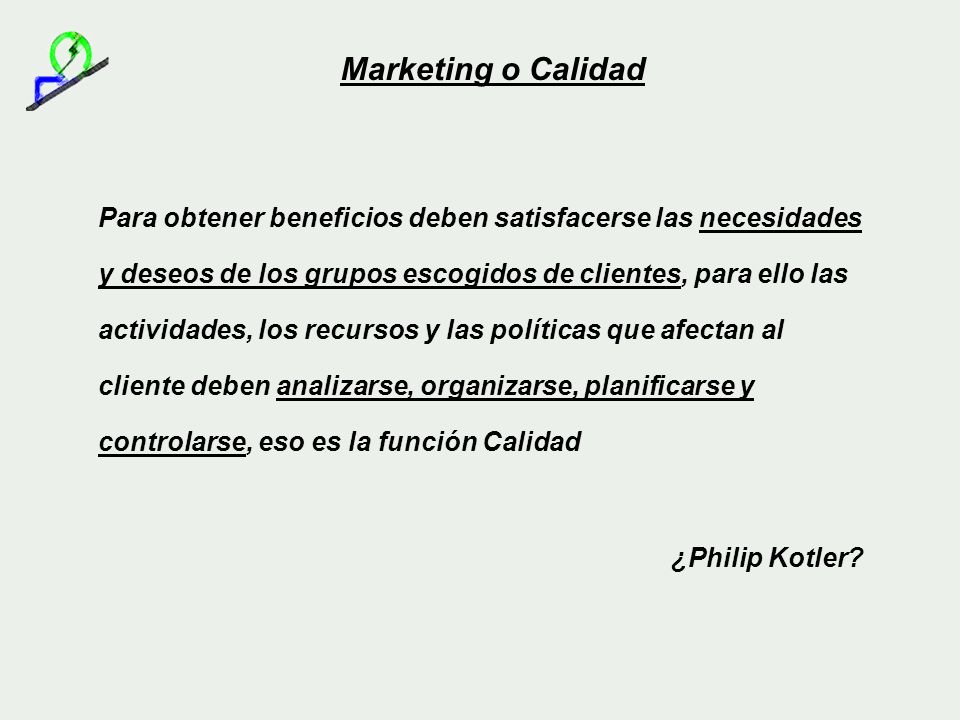 Marketing o Calidad