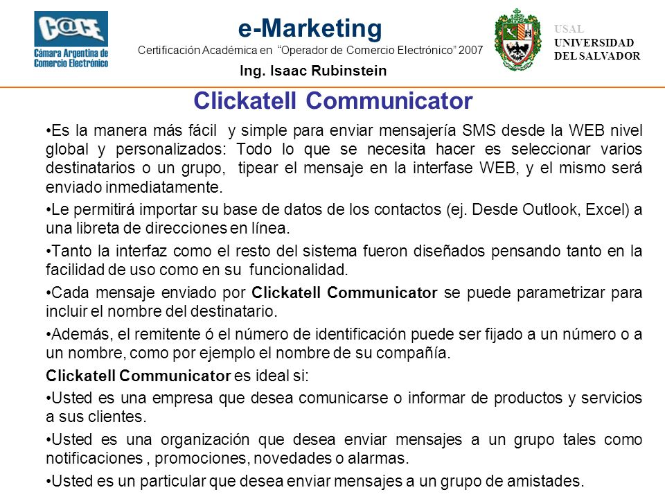 Clickatell Communicator