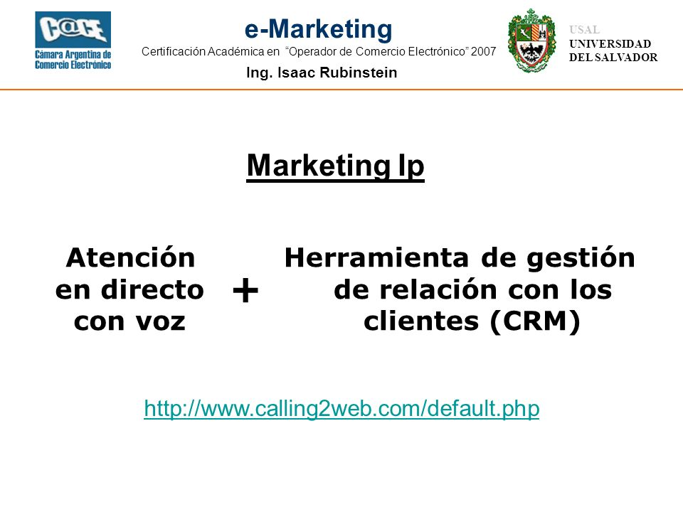 + Marketing Ip Atención en directo con voz