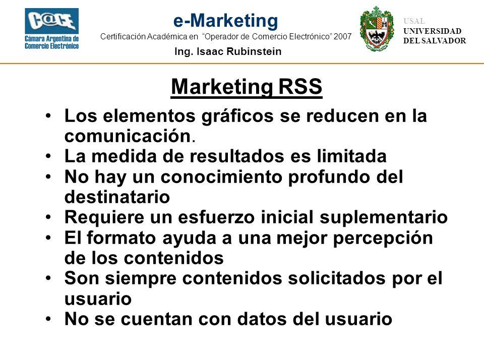 Marketing RSS Los elementos gráficos se reducen en la comunicación.