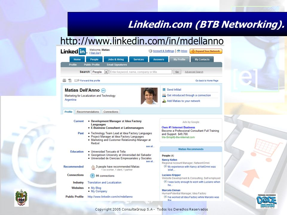 Linkedin.com (BTB Networking).