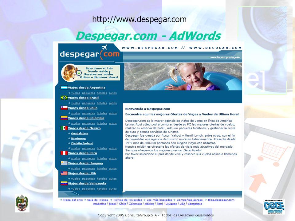 http://www.despegar.com Despegar.com - AdWords