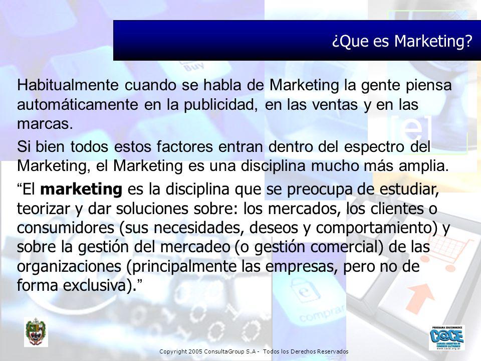¿Que es Marketing Habitualmente cuando se habla de Marketing la gente piensa automáticamente en la publicidad, en las ventas y en las marcas.