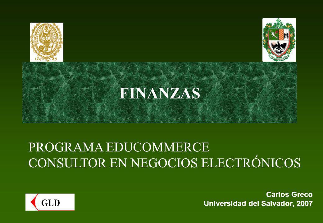 FINANZAS PROGRAMA EDUCOMMERCE CONSULTOR EN NEGOCIOS ELECTRÓNICOS