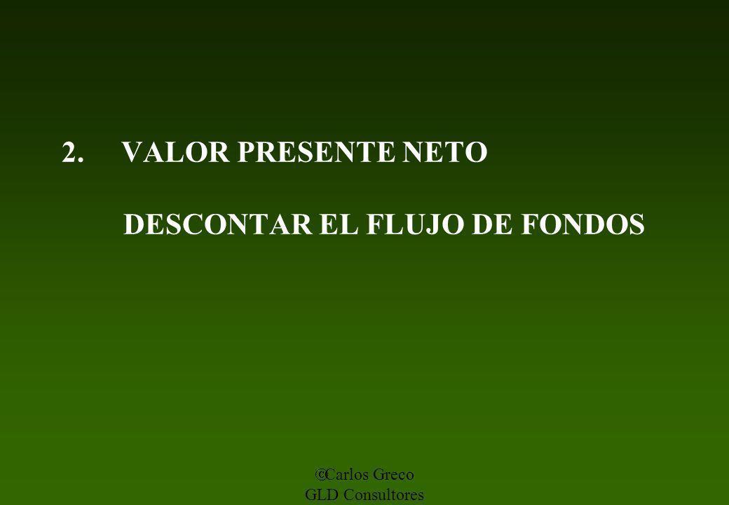 2. VALOR PRESENTE NETO DESCONTAR EL FLUJO DE FONDOS