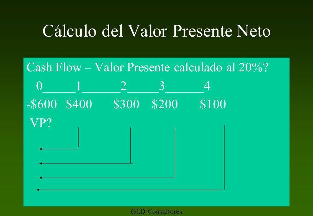 Cálculo del Valor Presente Neto