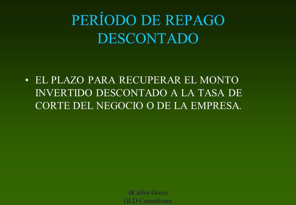 PERÍODO DE REPAGO DESCONTADO