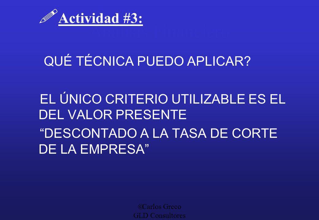 Análisis Financiero Actividad #3: QUÉ TÉCNICA PUEDO APLICAR