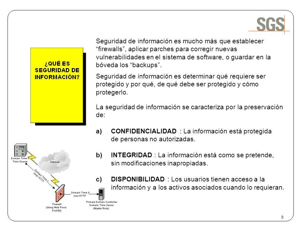La seguridad de información se caracteriza por la preservación de: