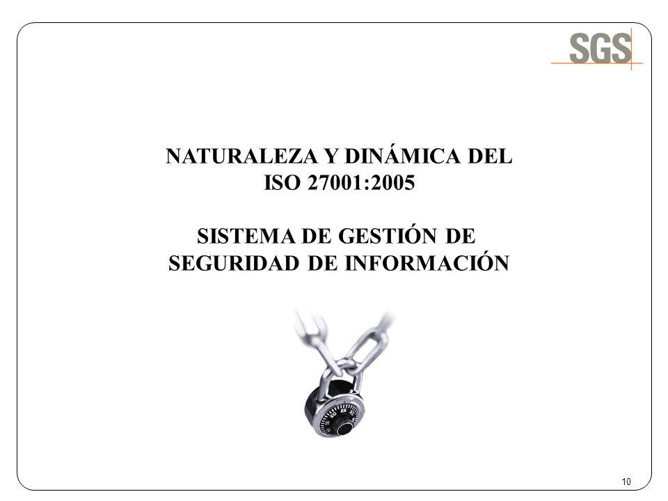 NATURALEZA Y DINÁMICA DEL SEGURIDAD DE INFORMACIÓN