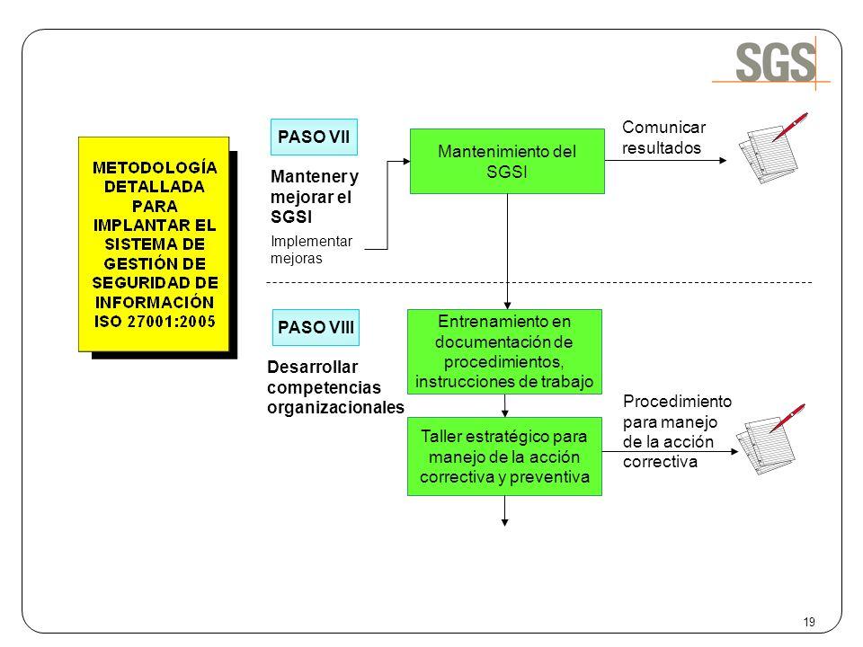 Mantener y mejorar el SGSI
