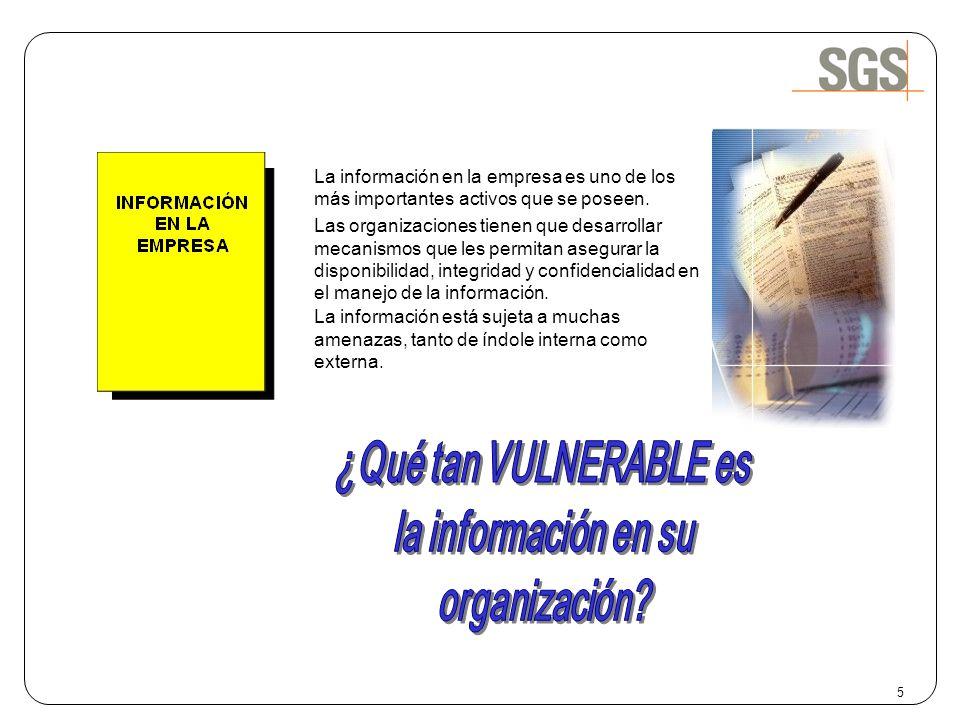 ¿Qué tan VULNERABLE es la información en su organización