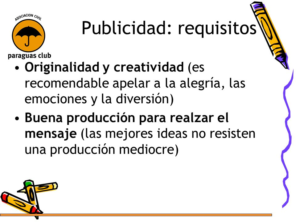 Publicidad: requisitos