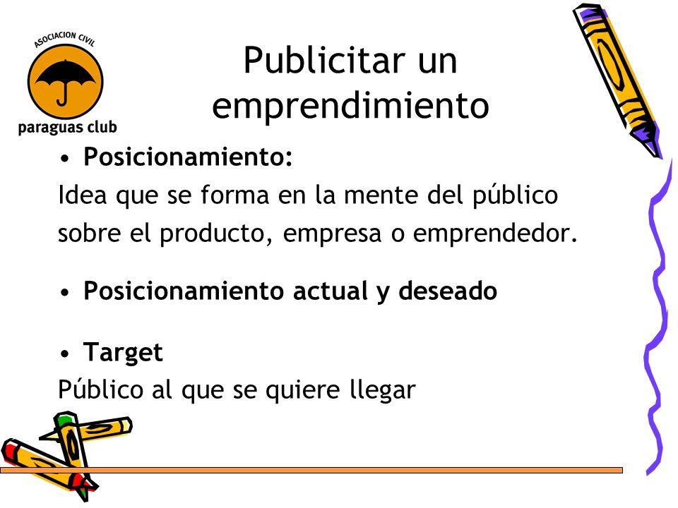 Publicitar un emprendimiento