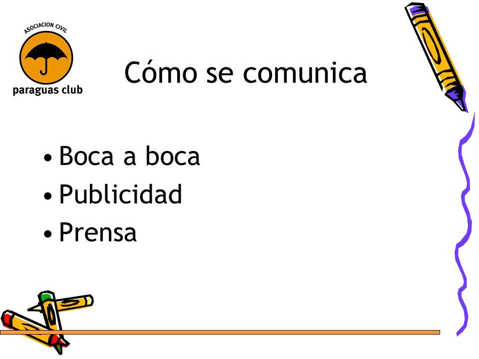 Cómo se comunica Boca a boca Publicidad Prensa