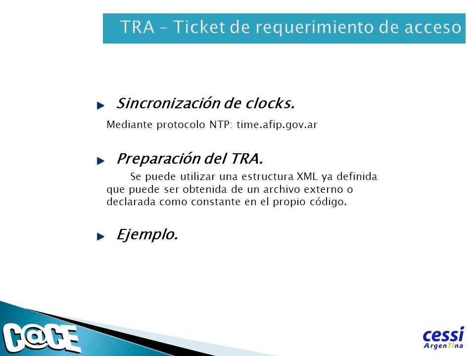TRA – Ticket de requerimiento de acceso