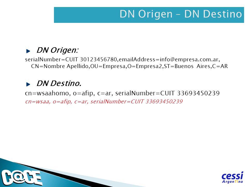 DN Origen – DN Destino DN Origen: DN Destino.