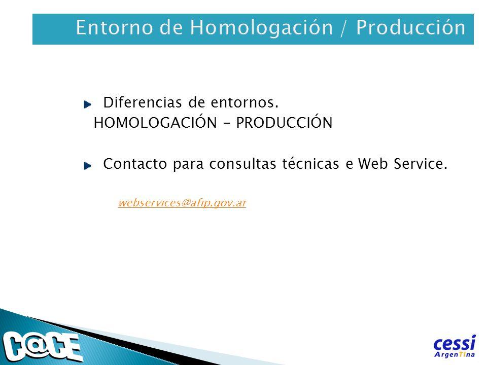 Entorno de Homologación / Producción