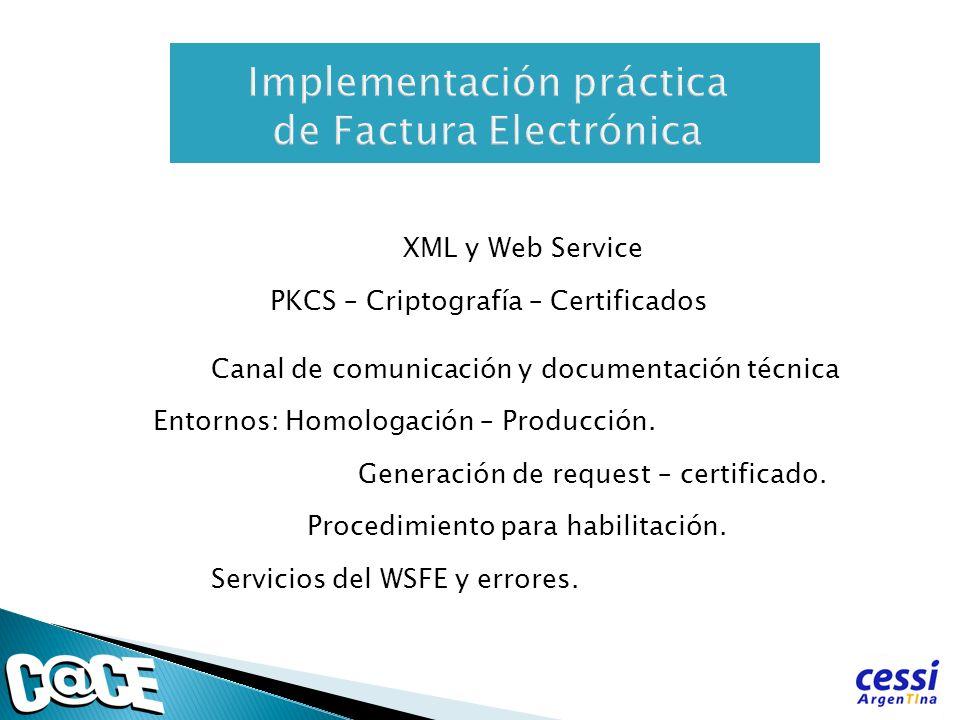 Implementación práctica de Factura Electrónica