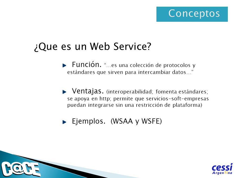Conceptos ¿Que es un Web Service