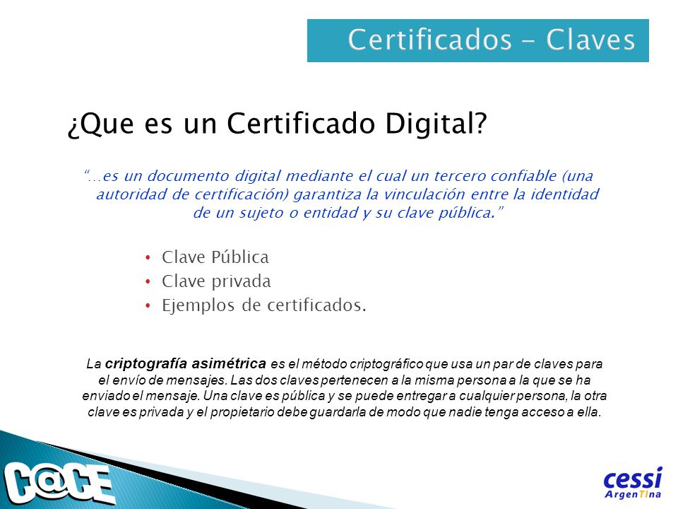 ¿Que es un Certificado Digital