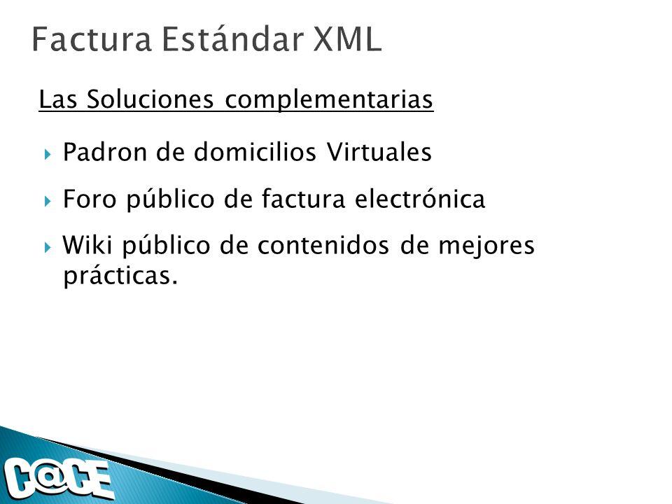 Factura Estándar XML Las Soluciones complementarias
