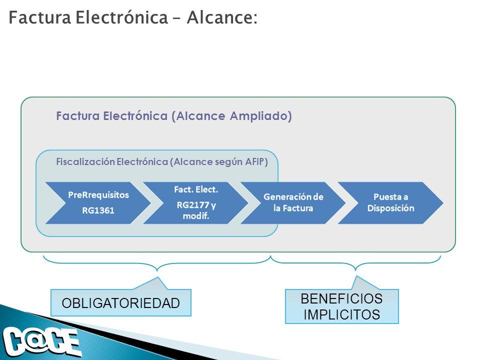 Factura Electrónica – Alcance: